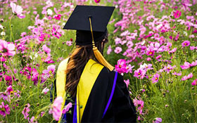dissertation topics image is represented by female graduate in flower garden can teach you how to write a dissertation